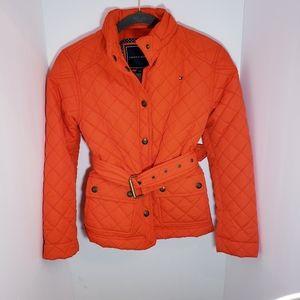 Tommy Hilfiger Belted Nylon Fleece Coat L 12 14